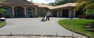 Concrete contractors pouring concrete in Punta Gorda